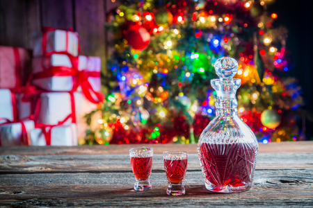 tincture: Sweet tincture for Christmas Stock Photo