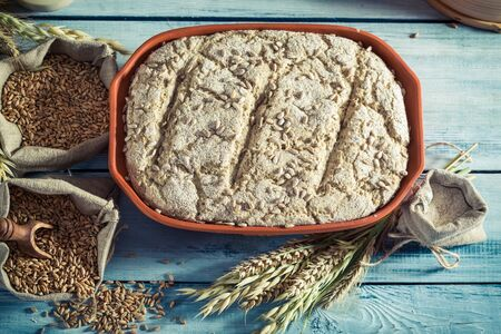 whole grains: Tasty bread with whole grains