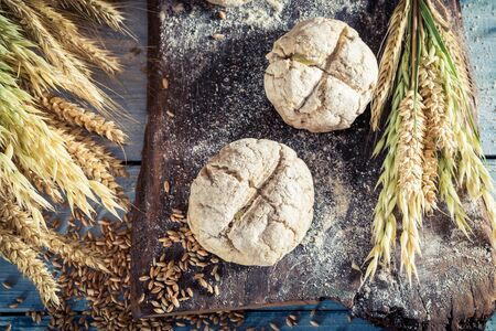 whole grains: Healthy rolls with whole grains