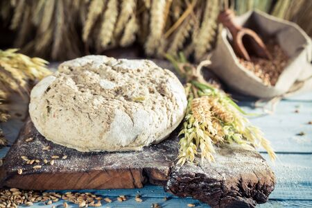 whole grains: Homemade bread with whole grains Stock Photo