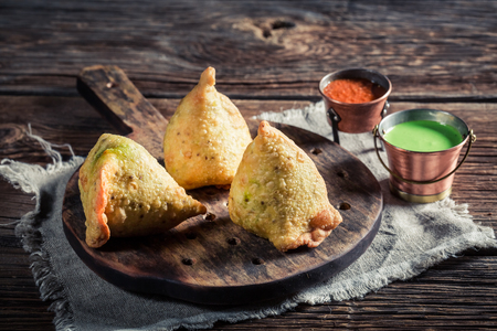 samosa: Indian samosa with vegetables