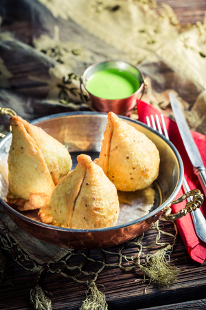 samosa: Delicious samosa with vegetables