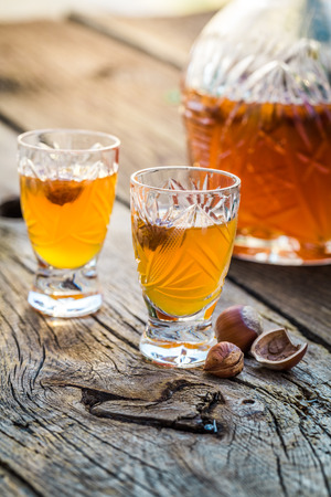 liqueur: Sweet liqueur with alcohol and hazelnuts
