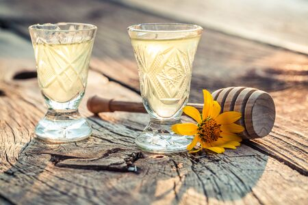 liqueur: Sweet liqueur with alcohol and honey
