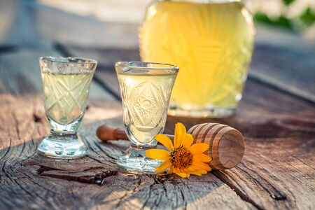 liqueur: Sweet homemade liqueur with honey and alcohol