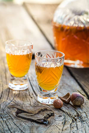 liqueur: Tasty liqueur with alcohol and hazelnuts