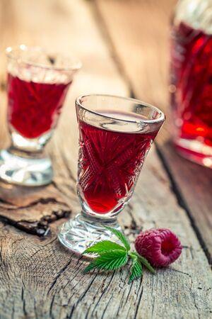 liqueur: Fresh liqueur with alcohol and raspberries