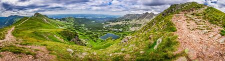 tatra: Panorama of the Tatras Mountains in summer