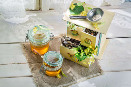 linden: Sweet linden honey