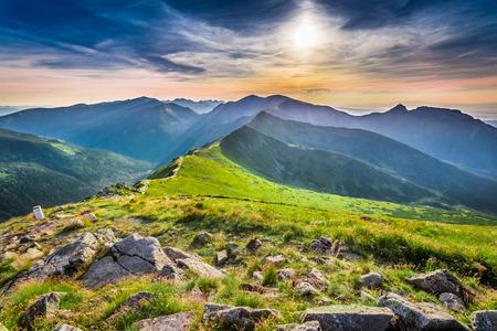 tatras: Sunset in Tatras mountains, Kasprowy Wierch, Poland