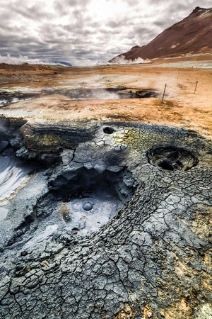 volcanism: Hot volcanic geothermal area, Iceland