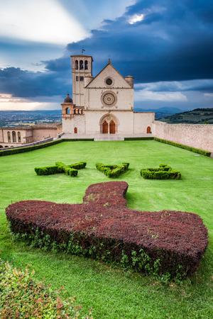 assisi: Basilica in Assisi, Umbria, Italy Stock Photo