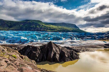 Vatnajokull glacier and mountains, Iceland