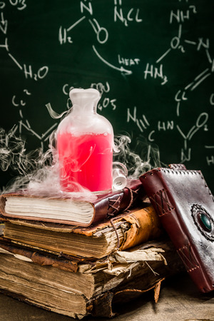 chemical reaction: Magic component in a chemical reaction Stock Photo