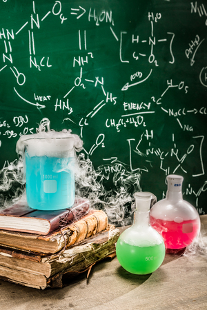 chemical reaction: Dynamic chemical reaction on chemistry lessons