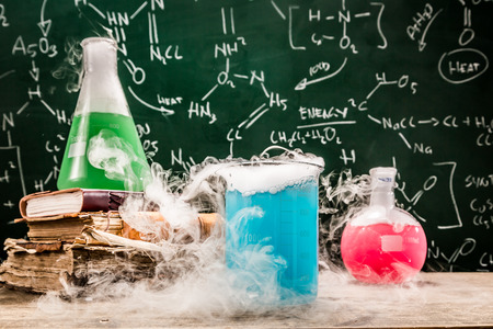 chemical formula: Checking the chemical formula in university lab