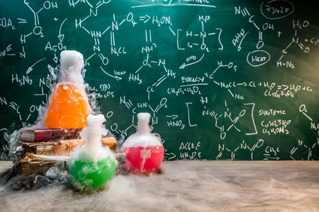 Rapid chemical reaction on chemistry lessons