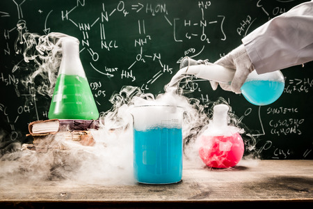 Practical chemical tests in university lab