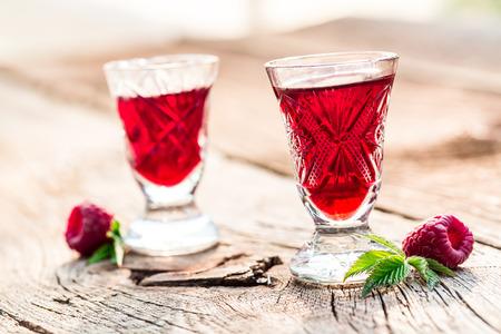 liqueur: Fresh liqueur made of raspberries and alcohol