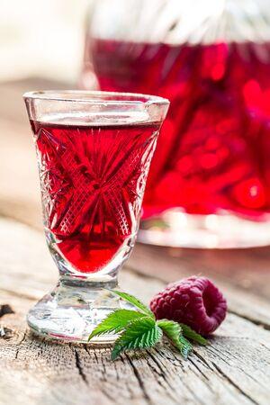 liqueur: Fresh liqueur made of alcohol and raspberries