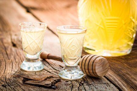liqueur: Tasty liqueur made of alcohol and honey