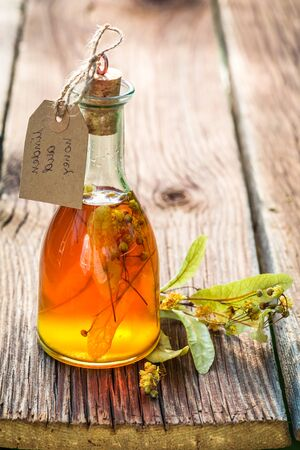 witchdoctor: Healing tincture with alcohol, honey and linden