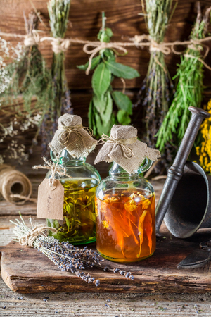 witchdoctor: Therapeutic tincture with alcohol and fresh herbs
