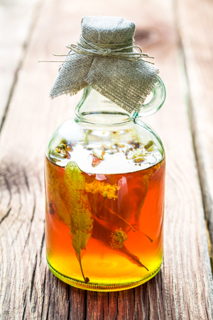 witchdoctor: Healthy herbs in bottles made of honey and linden