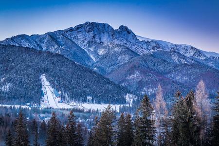 ski jump: View of the winter ski jump in Zakopane, Tatra Mountains, Poland