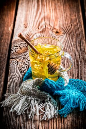 evenings: Healing tea for cold evenings Stock Photo
