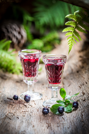 liqueur: Tasty liqueur with blueberries and alcohol