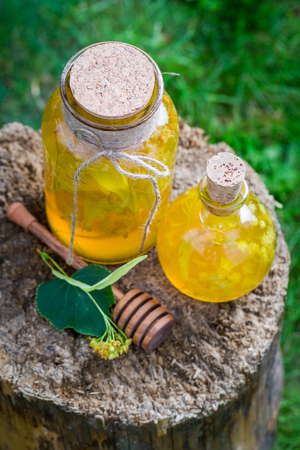 witchdoctor: Homemade liqueur with alcohol, honey and linden