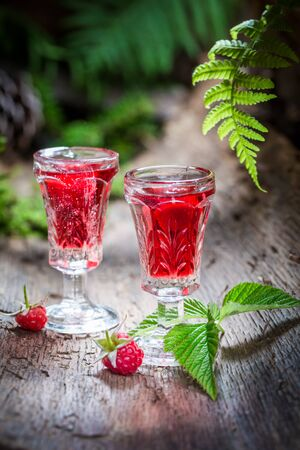 witchdoctor: Fresh raspberries liqueur made of alcohol and fruits