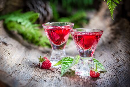witchdoctor: Sweet raspberries liqueur made of fruits and alcohol
