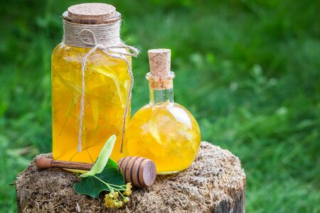 witchdoctor: Tasty and homemade liqueur with honey, linden and alcohol