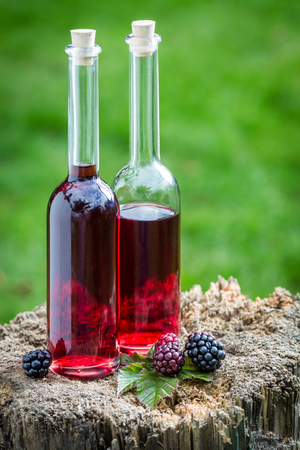 liquor: Tasty liqueur made of alcohol and blackberries