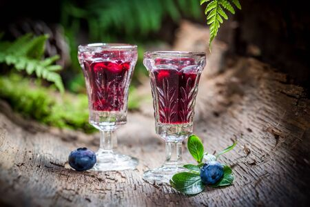 witchdoctor: Sweet liqueur with blueberries and alcohol