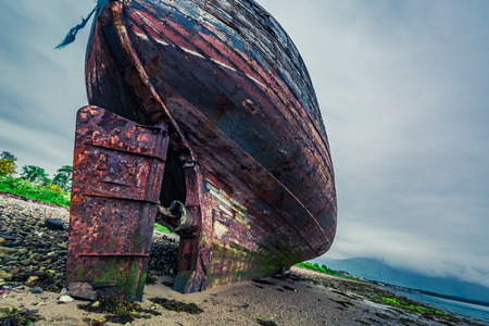 ship wreck: Abandoned ship wreck in Fort William, Scotland