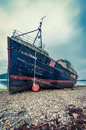 william: Rusty ship wreck in Fort William, Scotland