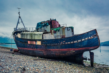 ship wreck: Old ship wreck in Fort William, Scotland
