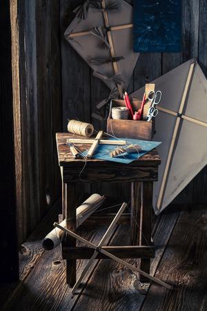 Homemade kite and things to make it