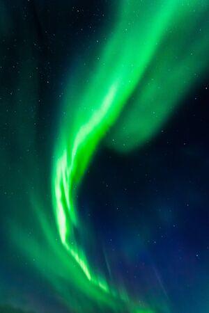Stunning northern lights in Iceland in summer
