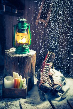 red oil lamp: Cozy winter cottage as a philosophy Hygge