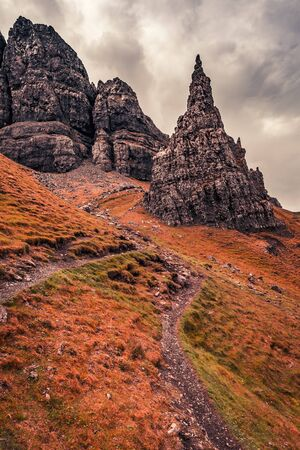Famous view to Old Man of Storr, Scotland, UK