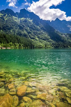 산, 폴란드, 유럽의 멋진 호수 스톡 콘텐츠