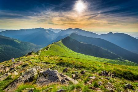 Sunset in Tatras mountains, Kasprowy Wierch, Poland, Europe