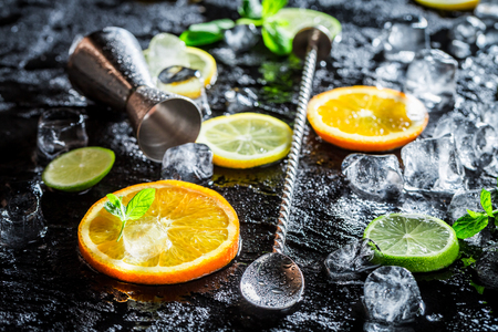 Bartender accessories for tasty and cold drink
