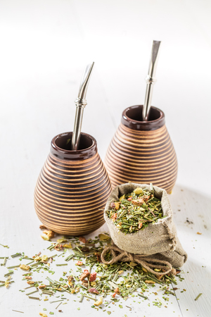Enjoy your yerba mate with calabash and bombilla