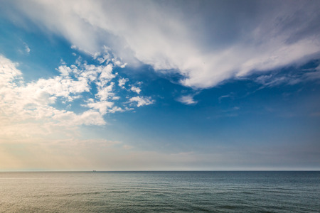 Dynamic sunset over calm sea in summer Stock Photo - 87983995