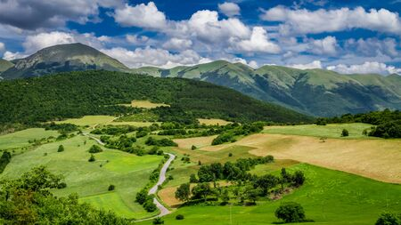 Beautiful mountain view in Umbria in Italy, Europe